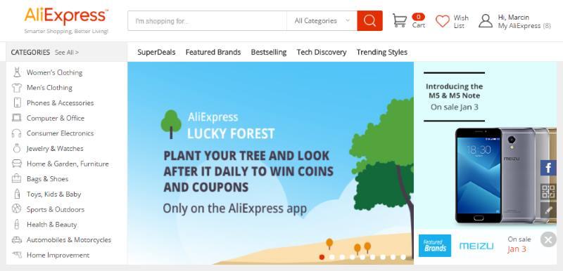 jak kupować na Aliexpress