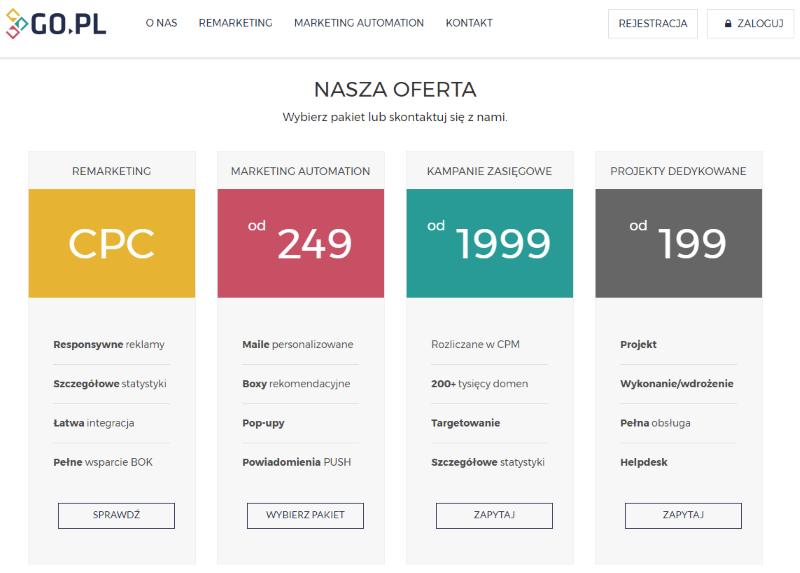 oferta go.pl narzędzia marketingu internetowego